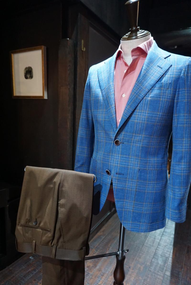 愛知県豊橋市、税理士のお客様のオーダージャケット、ジャケパンスタイル